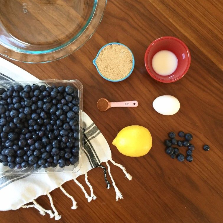 Headed Somewhere - Simple Blueberry Basil Pie Recipe